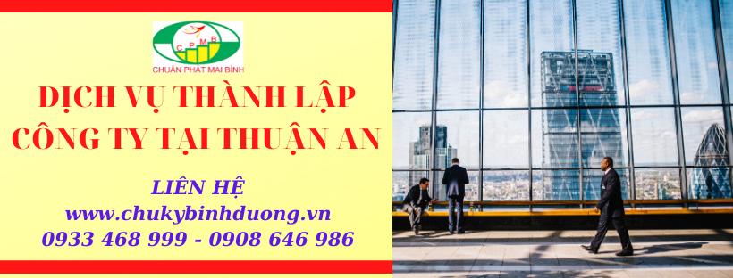 Thành lập doanh nghiệp giá rẻ tại Thuận An